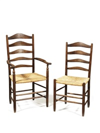 gimson chairs (8 works) by ernest william gimson