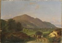paysage montagneux animé by jean francois xavier roffiaen