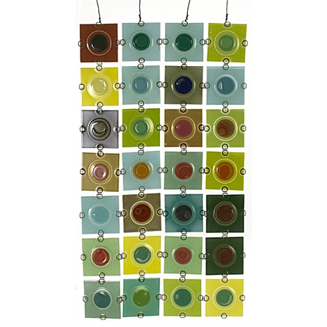 rondelay screen in 32 parts by higgins glass studio