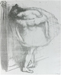 la danseuse accotée à un portant by gustave