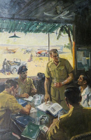 the de havilland field service by terence cuneo