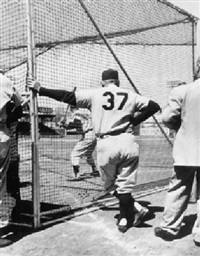 casey stengl at the batting cage by mark kauffman