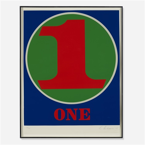one (from numbers) by robert indiana