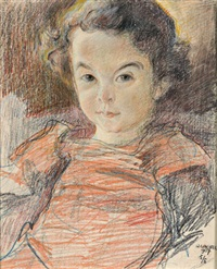porträt eines mädchens by wilhelm wachtel