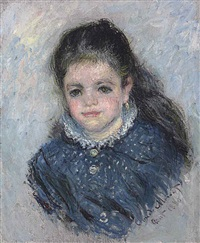 portrait de jeanne serveau by claude monet