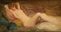 jeune femme nue alanguie by louise amelie landre