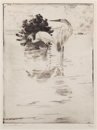 egrets by frank weston benson