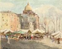 piazza di mercato by arturo e. de luca