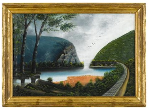 delaware water gap with delaware railroad by american school 20