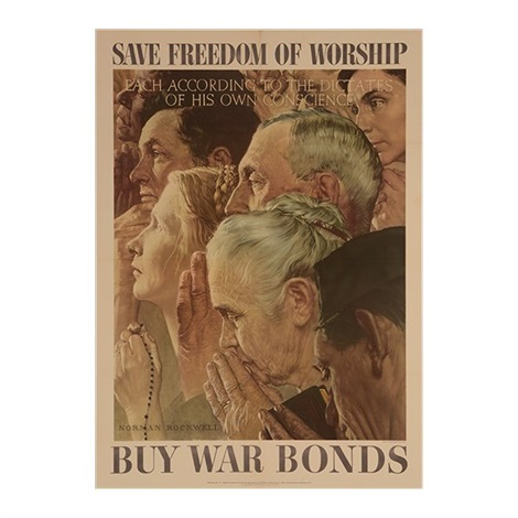 Norman Rockwell Freedom Of Speech Poster