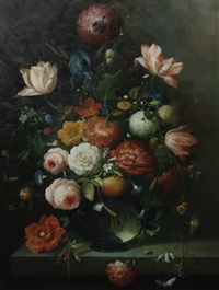 still life of flowers by thomas webster