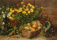 still life with flowers and fruit by victor jacques renault