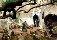 le cimetière des princesses, alger by adolphe ernest gumery
