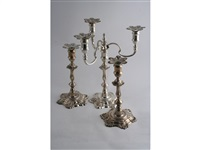 candlesticks (pair) (+ candelabrum; 3 works) by j.b. chatterly & sons