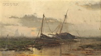 boats at low tide by george herbert mccord