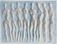 figurenzeichnung (+ figurenzeichnung; 2 works) by georg henke