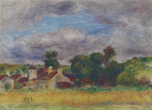 paysage de bretagne by pierre auguste renoir