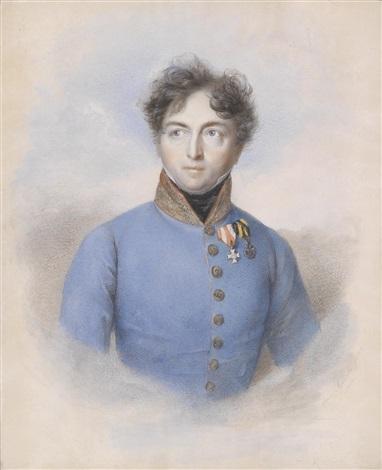 bildnis eines österreichischen generals en face by carl josef alois agricola