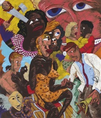 grandma and the frenchman - identity crises by robert h. colescott