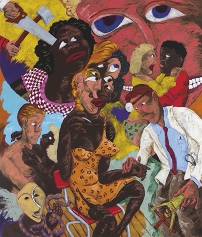 grandma and the frenchman identity crises by robert h colescott