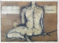 seated nude by john emanuel