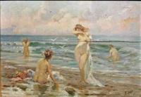 nudi sulla spiaggia by temistocle lamesi