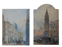 st. nicholas church, liverpool (+ another; a pair) by william gawin herdman