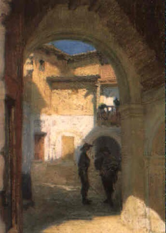 straatje te salamanca by franz van holder