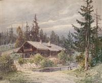 waldschule in alpl - rosseggers waldheimat by georg janny