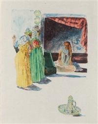 femmes arabes en visite by alexandre lunois