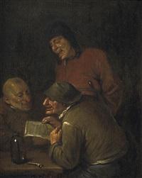 die amüsante lektüre.(lig.)kerck by egbert van heemskerck