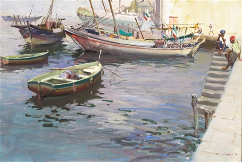 in the port of massawa ethiopia by terence cuneo