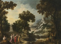 nymphs turning the apulian shepherd into an olive tree by francisco collantes