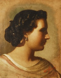 cabeza de mujer de perfil by dionisio fierros
