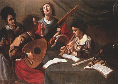 musizierende gesellschaft by theodoor rombouts