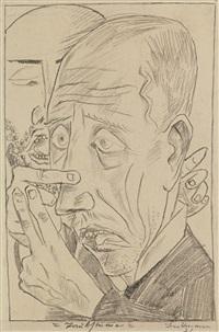 taubstumme (deaf-mute) by max beckmann