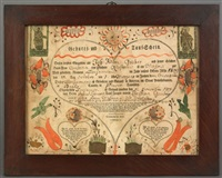birth certificate for benjamin gruber by johann jacob friedrich krebs