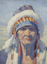 tahee-quala, taos chief by henry balink