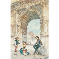 children in ancient rome by e(ttore) ascenzi