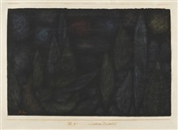 nächtliche landschaft, 101 (p 1) by paul klee