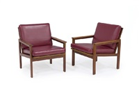 easy chair: capella (set of 2) by illum wikkelsø