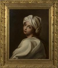 portrait of beatrice cenci, after guido reni by achille leonardi