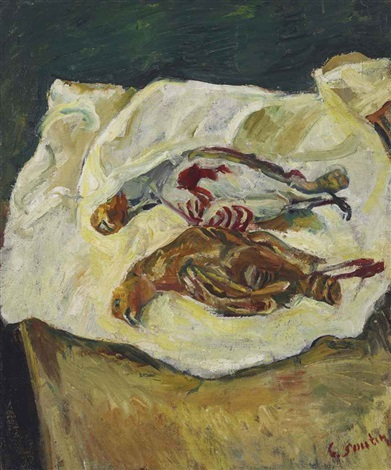nature morte aux deux perdrix rouges by chaïm soutine
