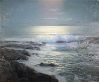 moonlit surf by leonard c. lane