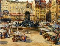 markttreiben am stadtplatz in nürnberg by rudolf konopa