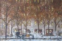 pulitzer fountain, ny by robert lebron