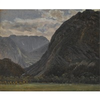 ved foten av fjellet (at the foot of the mountains) by thomas fearnley
