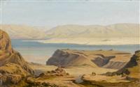 wüstenpartie mit berbern und küstenabschnitt by silvio poma