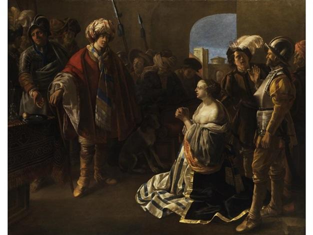 athena vor ihrem mann theodosius ii by hendrick ter brugghen