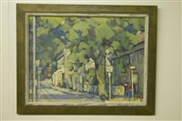 landscape of street by hildegard rath
